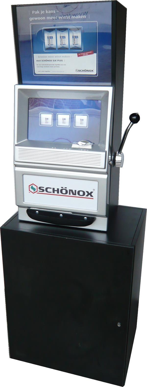 Einarmiger Bandit / WIN Machine mit Werbung & Programmierung zur Miete